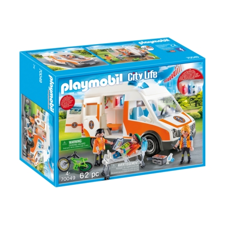 Playmobil City Life 70049 Ambulance an ambulanciers