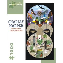 The California desert mountains, Charley Harper, 1000st