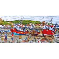 Seagulls at Staithes, Gibsons (636)