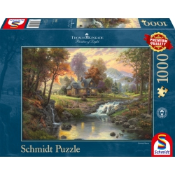 Mountain retreat Kinkade1000 stukjes