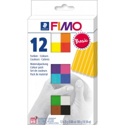 Fimoklei, basic colours 12st 300gr