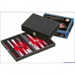 Backgammon deluxe travel rd/wt