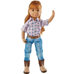 Kruselings, Chloe Riding Cowgirl - Doll Set, Käthe Kruse