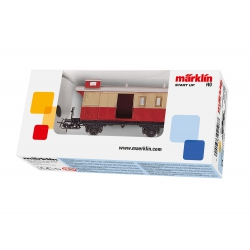 Märklin Start up, Bagagerijtuig rood/beige 4108, Spoor H0