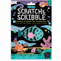 Mini Scratch & Scribble Art Kit- Vissen