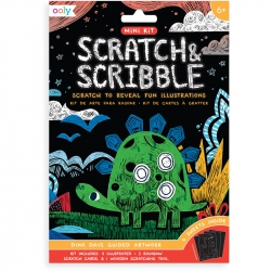 Mini Scratch & Scribble Art Kit - Vissen, Ooly