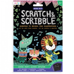 Mini Scratch & Scribble Art Kit- Safari, Ooly