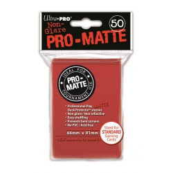 Ultra Pro Matte Sleeves: Red