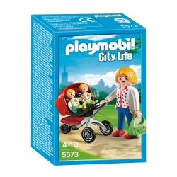 Playmobil Dollhouse 5573 Tweeling Kinderwagen