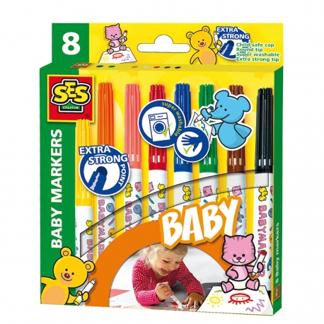 SES My first Baby Markers, 8st.